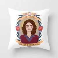 Liz Lemon Throw Pillow