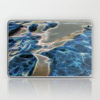 Abstract rock pool and sand on a beach in Queensland Laptop & iPad Skin