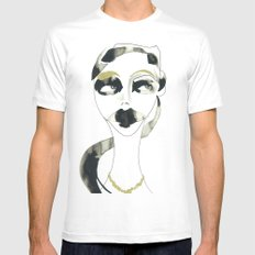 a bystander SMALL Mens Fitted Tee White