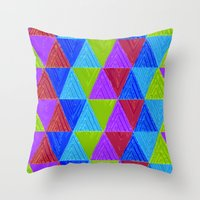 Aztec 5# Throw Pillow