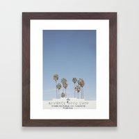 York BLVD   Highland Park   Los Angeles Framed Art Print
