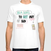 Reasons To Get Out Of BE… Mens Fitted Tee White SMALL