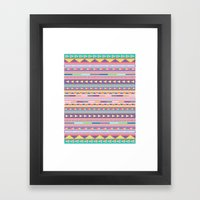 Geometric Pastel Pattern Framed Art Print