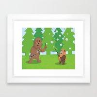 SW Kids - Chewie Bubbles Framed Art Print