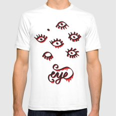 EYE White Mens Fitted Tee SMALL
