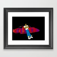 Futuristic. Framed Art Print