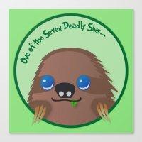 Adorable Sloth Canvas Print