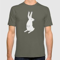 Happy Arctic Hare Mens Fitted Tee Lieutenant SMALL