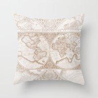 Terra in Tan Throw Pillow