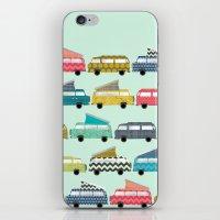 Geo Campers Mint iPhone & iPod Skin
