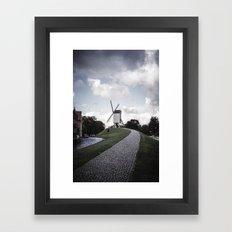 Faded Memories: Windmill Framed Art Print