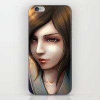 Brown Hair Asian iPhone & iPod Skin