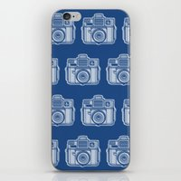 I Still Shoot Film Holga Logo - Reversed Blue iPhone & iPod Skin
