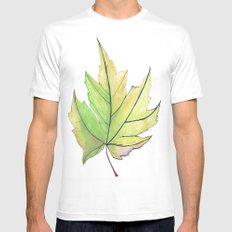 Maple Leaf  SMALL Mens Fitted Tee White