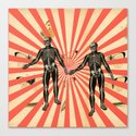 Dancing Skeletons Canvas Print
