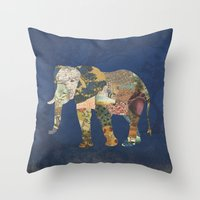 Elephant - The Memories of an Elephant Throw Pillow