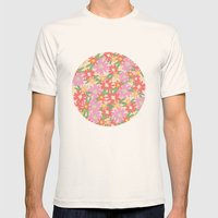 floral party Mens Fitted Tee Natural SMALL