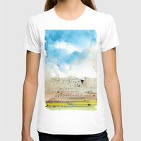 Left Coast Impressions 3 Womens Fitted Tee White SMALL