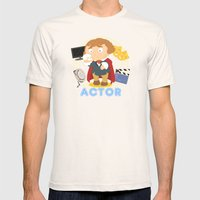 Actor Mens Fitted Tee Natural SMALL