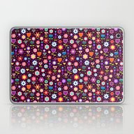 Purple Flowers Field  �… Laptop & iPad Skin