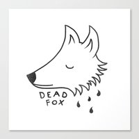 Dead Fox Canvas Print