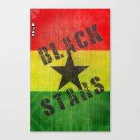 Canvas Print featuring Ghana Black Stars by Graffititech/DGNR