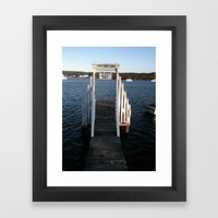 Wharf Walk Framed Art Print