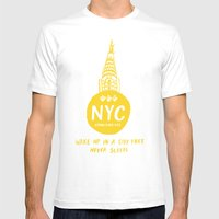 NYC Mens Fitted Tee White SMALL