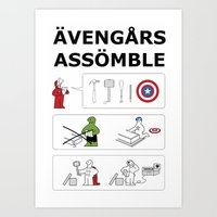 Superheroes Assembling -… Art Print