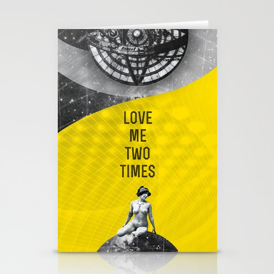 Love me two times (Rocking Love series) Stationery Card