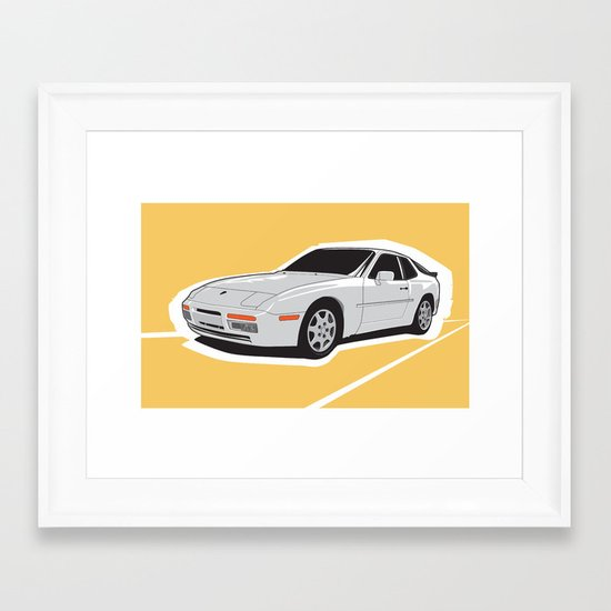 Turbo Driver Framed Art Print