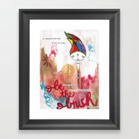 Be the Brush Bhoomie Framed Art Print