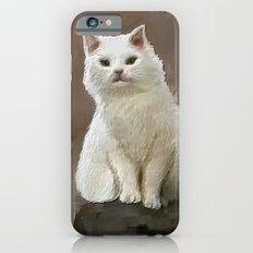 White cat iPhone 6s Slim Case