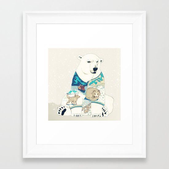 Polar Bear Framed Art Print