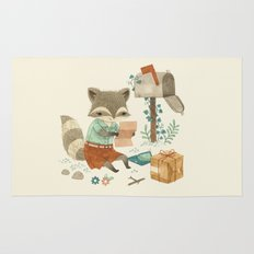 Raccoon Post Rug