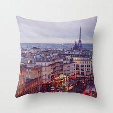 Rainy Paris. Throw Pillow