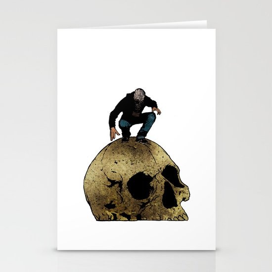Leroy And The Giant's Giant Skull Stationery Card