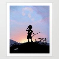 Riddler Kid Art Print