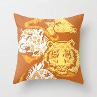 Animal Prints Throw Pillow