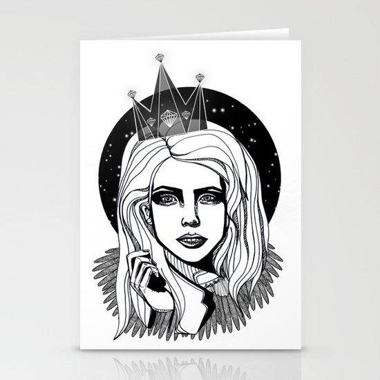 Queen of the night Stationery Card