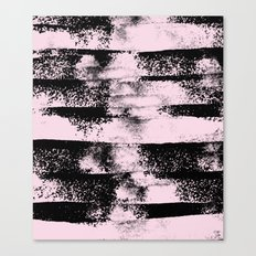 Pink Black Abstract texture  Canvas Print