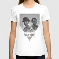 Inspector Spacetime  Womens Fitted Tee White MEDIUM