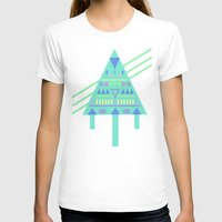 Tri∆nalog Womens Fitted Tee White SMALL