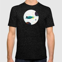 Fishing Hole Mens Fitted Tee Tri-Black SMALL