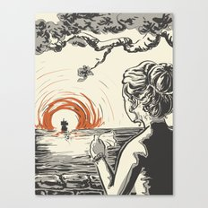 Once, I Hated the Sun Canvas Print