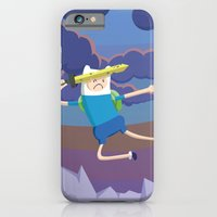 iPhone & iPod Case featuring Finn the Human is gonna KICK YOUR BUTT! by designbyash