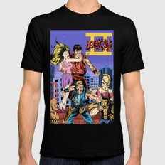 Double Dragon II SMALL Black Mens Fitted Tee