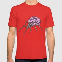 brain spider Mens Fitted Tee Red SMALL