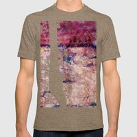 Pink landscape Mens Fitted Tee Tri-Coffee SMALL