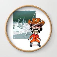 Night Cowboy Wall Clock
